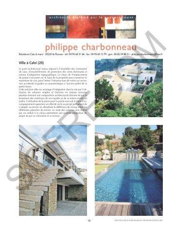 CHARBONNEAU Philippe Architecte D.P.L.G. - L'Architecture