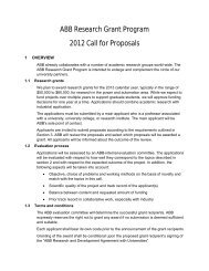 ABB Research Grant Program 2012 Call for Proposals