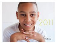 Annual Report 2011 - The Steppingstone Foundation
