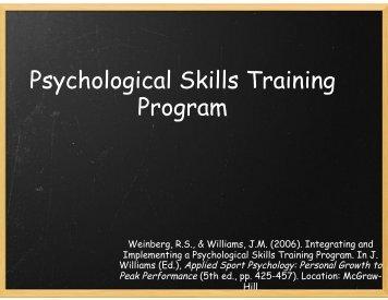 Psychological Skills Training Program