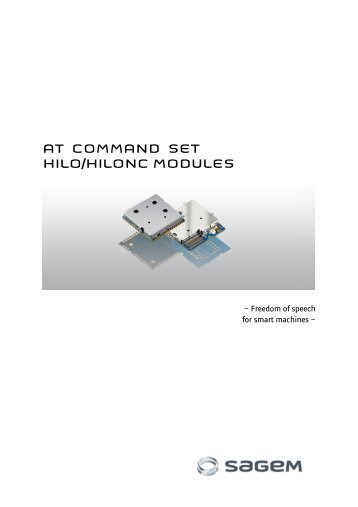 AT COMMAND SET HILO/HILONC MODULES - Libelium
