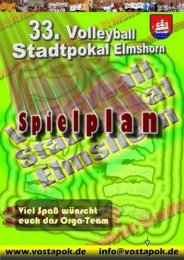 Spielplan 2012 - Volleyball Stadtpokal Elmshorn
