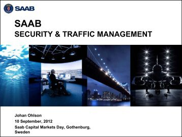 air traffic control market - Saab