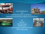 Vessel Modification and Hull Maintenance Considerations ... - CCFI