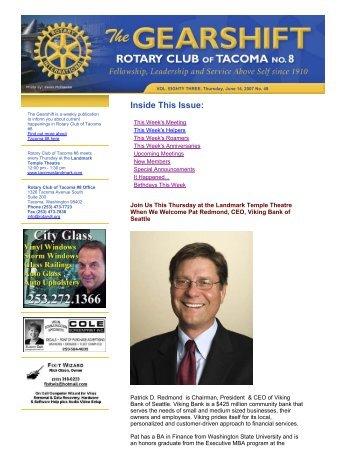 June 14, 2007 - Rotary 8