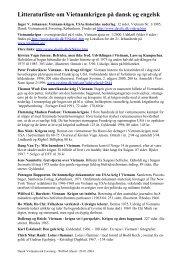 Litteraturliste om Vietnamkrigen på dansk og engelsk