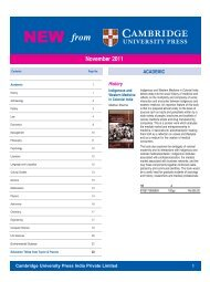 Newsletter November 2011 - Cambridge University Press India