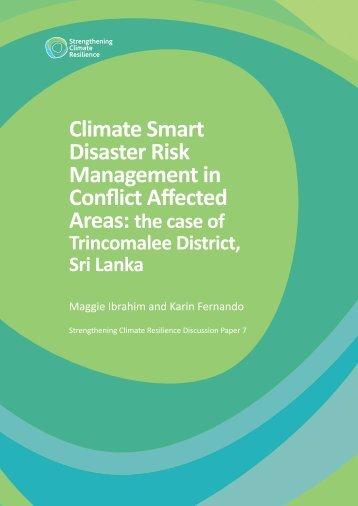 Climate Smart Disaster Risk Management in Conflict Affected - Eldis ...