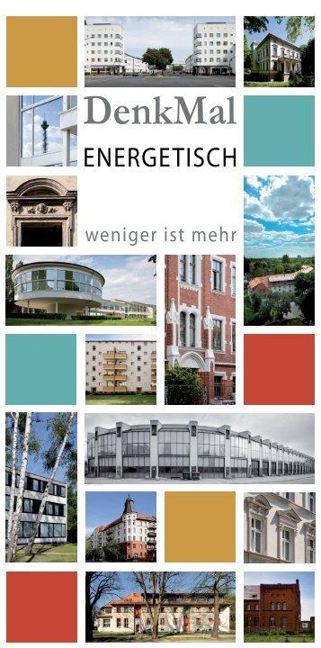DenkMal energetisch - Senatsverwaltung für Stadtentwicklung ...