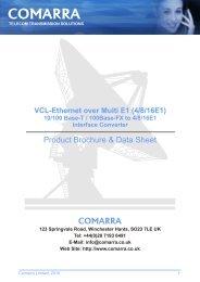 Ethernet over 4 E1 Converter - COMARRA