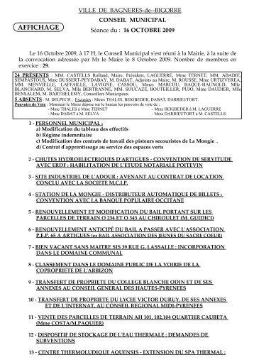 2009 conseil du 16_10.pdf - Bagnères de Bigorre