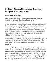 Formandens beretning 2008 - Halsnæs Bryghus