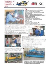 Customer's parts Kooperacja produkcyjna - SaMASZ