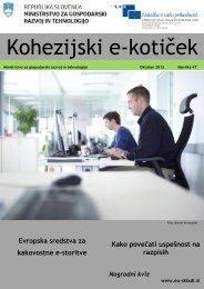 E koticek st 47 - Strukturni skladi EU v Sloveniji