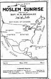 1938, II - The Muslim Sunrise