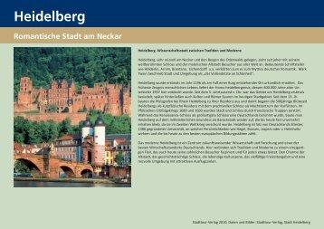 Heidelberg Sehenswürdigkeiten Infos - StadtTour