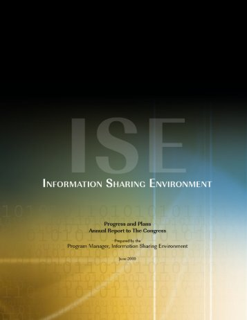 Annual Report to Congress 2009 - ISE.gov