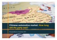 Chinese automotive market: How long will the party ... - Roland Berger