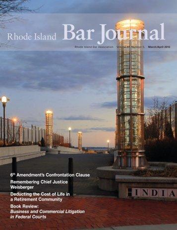 Rhode Island Bar Journal - Rhode Island Bar Association