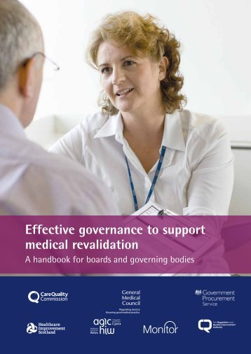 Effective governance to support medical revalidation - General ...