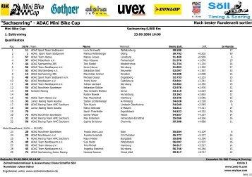 """""""Sachsenring"""" - ADAC Mini Bike Cup - Zeitnahmeteam"""