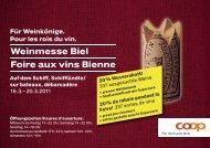 Weinmesse Biel Foire aux vins Bienne