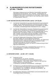 A. PLANUNGSRECHTLICHE FESTSETZUNGEN § 9 Abs. 1 BauGB