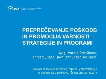 PowerPointova predstavitev - IVZ RS