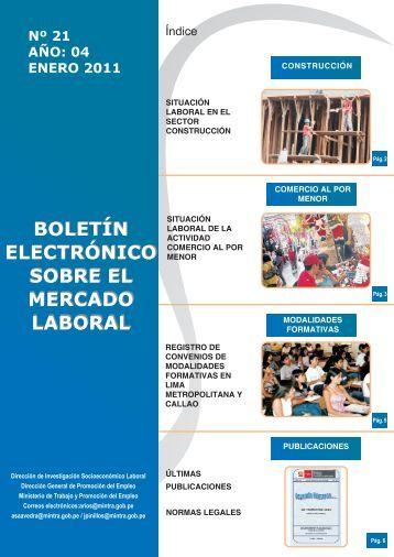 situación laboral en el sector construcción - Ministerio del Trabajo y ...