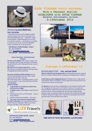 Vietnam 5-14October'12 TOUR VIETNAM FULLY ... - The Cape Club