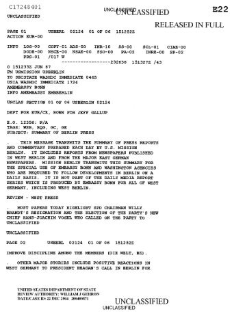 E2 2 RELEASED IN FULL UNCLASSIFIED - US Department of State