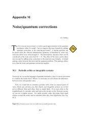 Noise/quantum corrections - ChaosBook