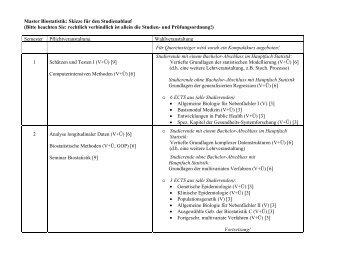 Master Biostatistik: Skizze für den Studienablauf (Bitte beachten Sie ...