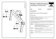 Montage- und Betriebsanleitung Kupplungskugel mit ... - Westfalia