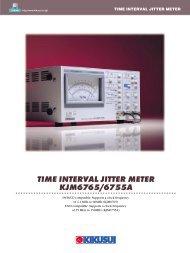 time interval jitter meter kjm6765/6755a - Kikusui Electronics Corp.