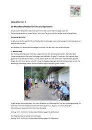 Newsletter Nr. 2 SG Moselkern/Müden für Fans und Sponsoren