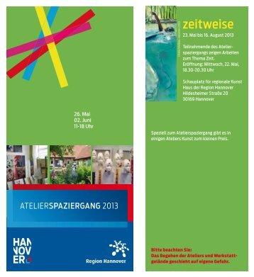 Atelierspaziergang 2013 - Künstler / Freizeit - HAZ