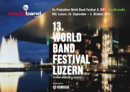 13. World Band Festival luzern 13. World Band Festival luzern