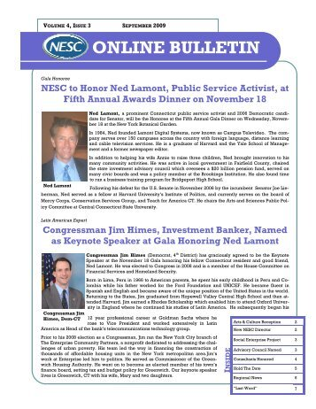 to read the September 2009 Online Bulletin - National Executive ...