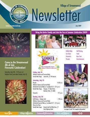 Summer 2009 Newsletter - Village of Streamwood