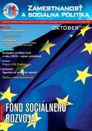 2009 10 Zamestnanost 200910 (pdf) - Ústredie práce, sociálnych ...
