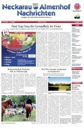 Fünf Tage lang die Gesundheit im Visier - Stadtteil-Portal Mannheim