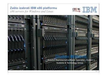 IBM System x and BladeCenter Portfolio - HrOUG