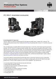 HTC 1500 ixT - Industrialized concrete grinder - Anzeve