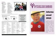Informe anual 2010 - Support for Families of Children with Disabilities