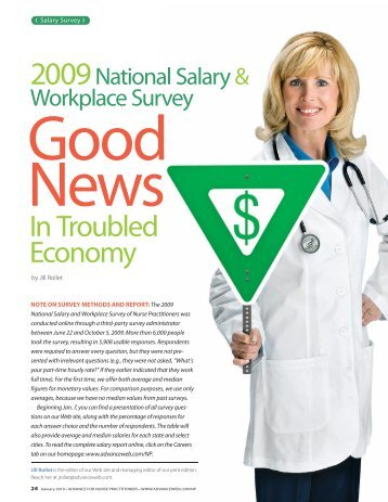 2009 National Salary and Workplace Survey of Nurse Practitioners