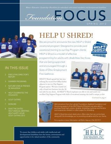 Spring 2012 Foundation Focus - HELP Foundation