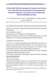 Richtlinie 2001/18/EG über die absichtliche Freisetzung genetisch ...