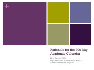The Rationale for a 200-Day School Calendar - Riverside Publishing