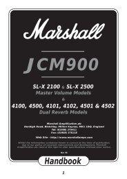 JCM900 Handbook - Marshall